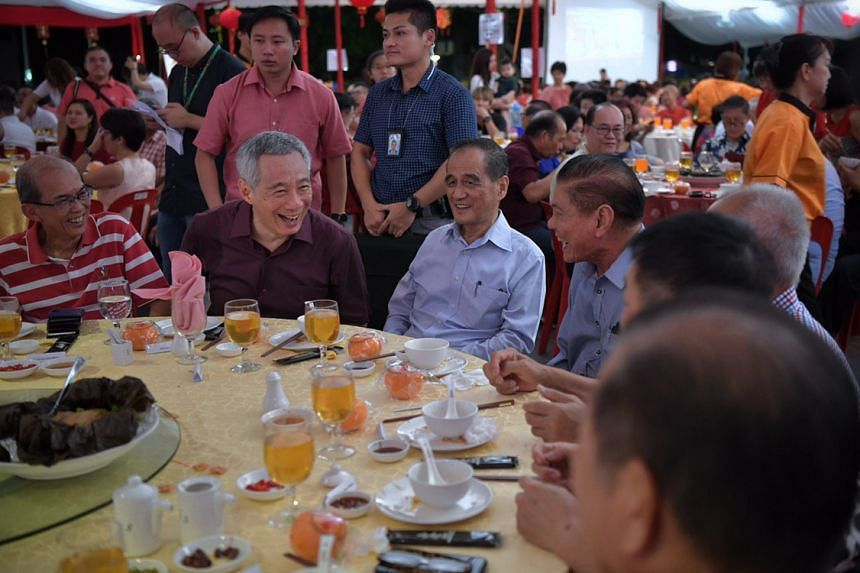 Prime Minister Lee Hsien Loong at the annual Teck Ghee Chinese New Year celebration dinner on Feb 9, 2019.