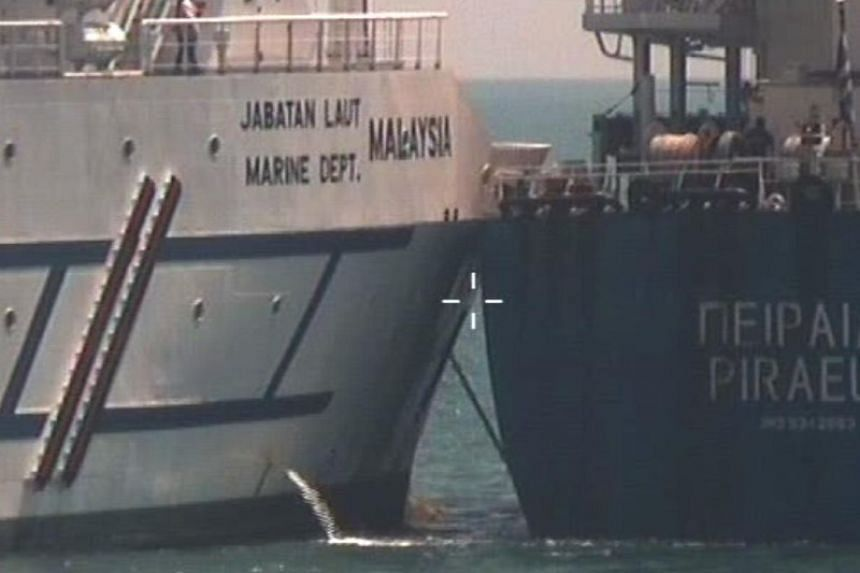 Greece-registered bulk carrier Pireas was on its way from Singapore to its next port of call at Tanjung Pelapas, Malaysia, when the collision took place at 2.28pm on Feb 9, 2019.