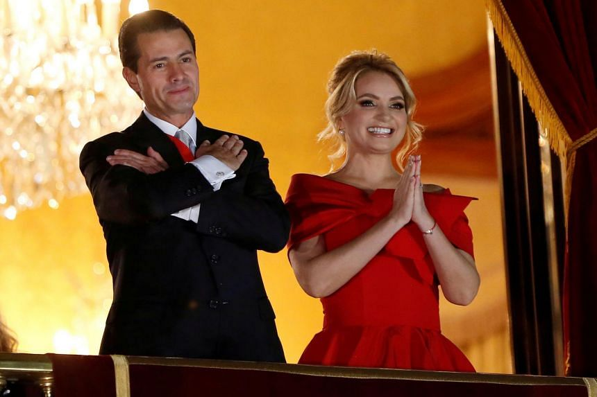 Former Mexican president Enrique Pena Nieto and Angelica Rivera married in 2010, when the politician was governor of Mexico state.