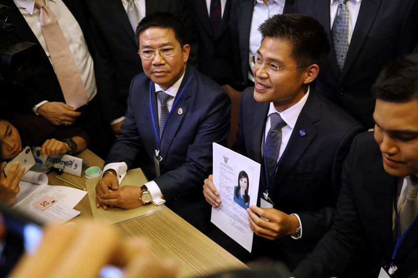 The party informed reporters without explanation that Thai Raksa Chart leader Preechaphol Pongpanit and party campaign chief Nattawut Saikaur would cancel their   election campaign visits.