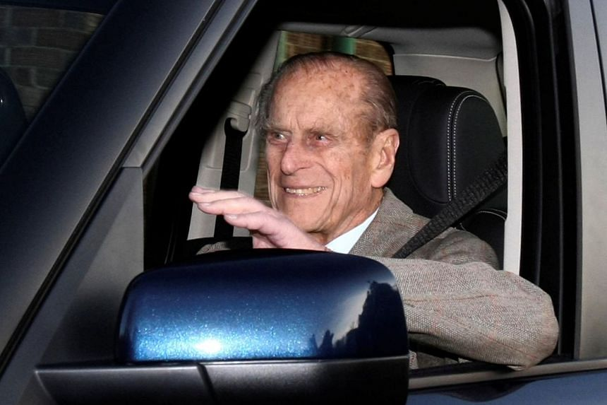 Britain's Prince Philip being driven away from Papworth Hospital in England in 2011.