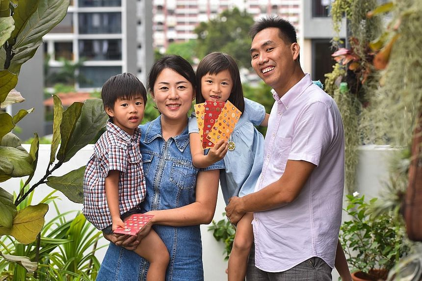Mr Melvin Leong, 40, principal Consultant at IHSMarkit, with his wife Sinyee Yap, 35, a programme manager, and their children Olivia, six, and Quentin, three. The parents hope their children will learn to cherish what they have, show gratitude and no