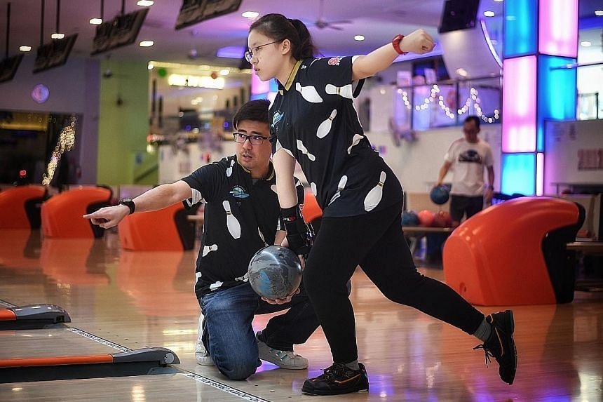 Remy Ong, 40, a triple gold medallist at the 2002 Asian Games, runs the National Service Resort and Country Club Bowling Academy with a business partner.