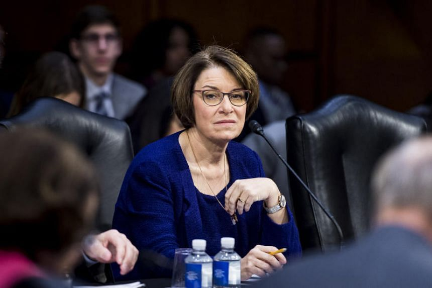 US Senator Amy Klobuchar in Washington on Feb 7, 2019.