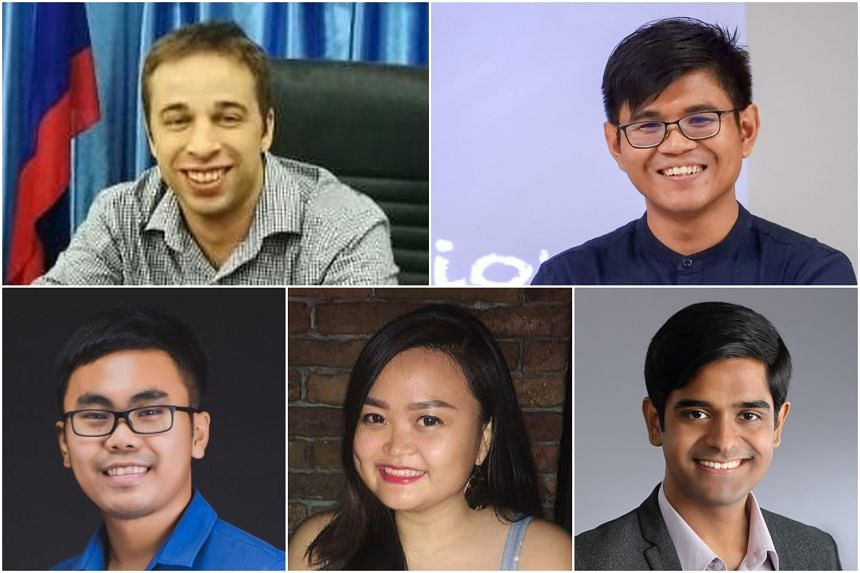 Young leaders attending the US-Asean Partnership Forum (clockwise, from top left) Jeremy Danz, Piyanat Soikham, Deepu Nair, Catherine Setiawan and Sithy Rath Daravuth.
