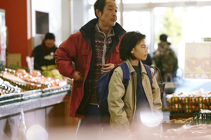 Hirokazu Kore-eda's Shoplifters, which stars Lily Franky (far left) and Jyo Kairi, has received an Oscar nomination for Best Foreign Language Film.