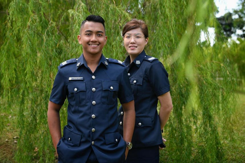 Sergeant Muhammad Sufi Mohd Hussin, 26, and Sergeant Sally Chua, 27, were two of 13 individuals commended by CPIB on Feb 11, 2019, for rejecting bribes.