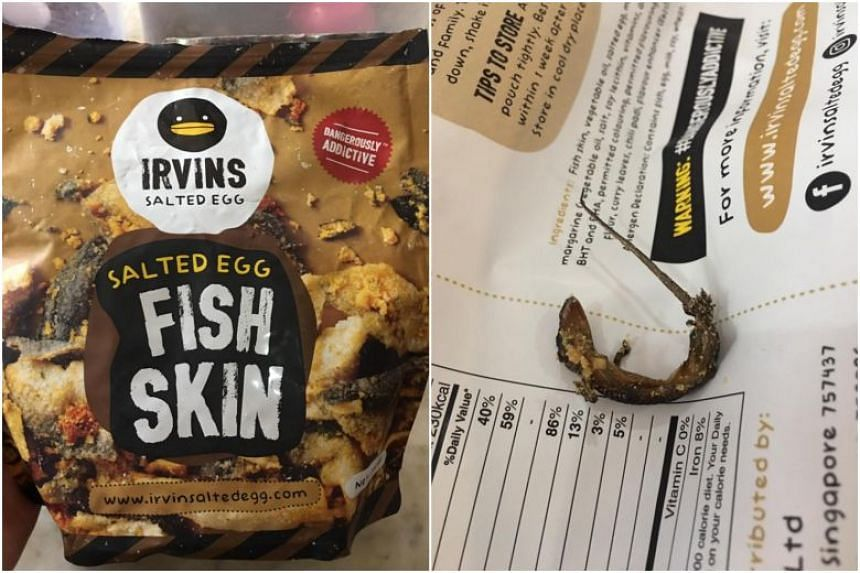 In a statement on Feb 11, the Agri-Food and Veterinary Authority said that it has completed investigations into the Singapore-based food company, after a Bangkok customer found a dead lizard coated with salted egg in a packet of the popular snack.