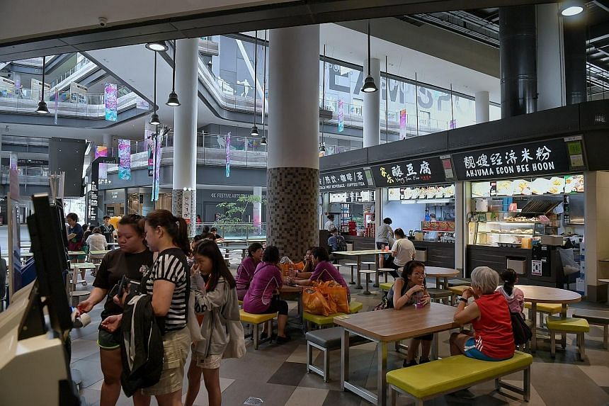 One of the seven new social enterprise hawker centres is at Our Tampines Hub. Senior Minister of State for the Environment and Water Resources Amy Khor said yesterday in Parliament that the $750 to $3,700 monthly rents at such hawker centres are comp