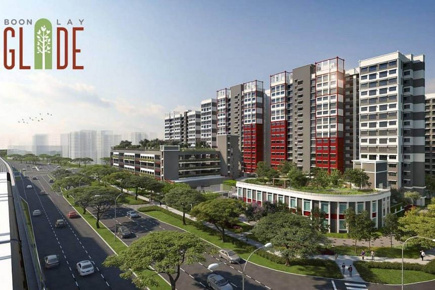 An artist's impression of Boon Lay Glade BTO flats.