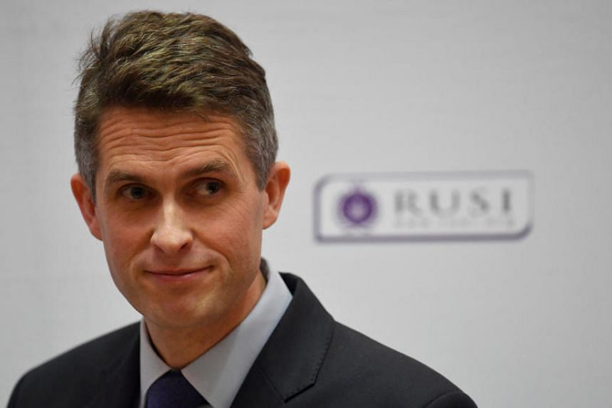 Britain's Defence Secretary Gavin Williamson delivers a keynote speech at the Royal United Services Institute in London, Britain, on Feb 11, 2019.