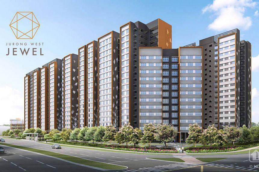 An artist's impression of Jurong West Jewel BTO flats.