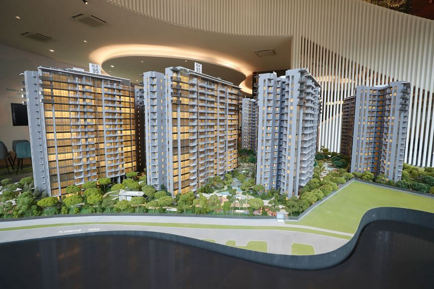 A show-flat of The Florence Residences, a 99-year leasehold condominium developed by Logan Property (Singapore). Between 400 and 500 units are expected to be released on March 2. The 1,410-unit project in Hougang Avenue 2 comprises nine 18-storey towers