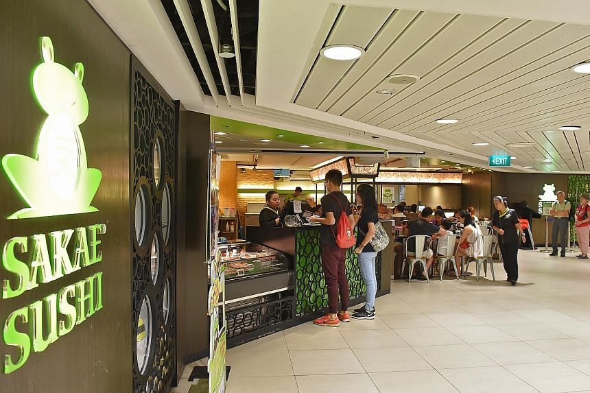 Sakae Holdings, which runs the Sakae Sushi restaurant chain, said a streamlining of operations resulted in a fall in revenue, while the cost of sales and labour expenses dropped accordingly. It posted a net loss of $469,000 for the first half, compar