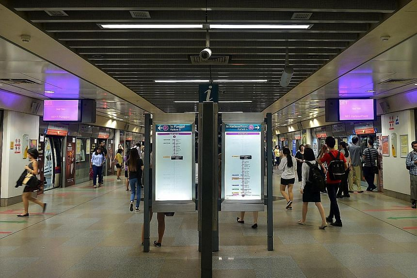 Serangoon MRT station on the North East Line, run by SBS Transit. The firm's revenue rose 16.1 per cent to $1.38 billion for the 12 months to Dec 31, largely because of higher fees earned with the start of the Seletar bus package in March and the Buk