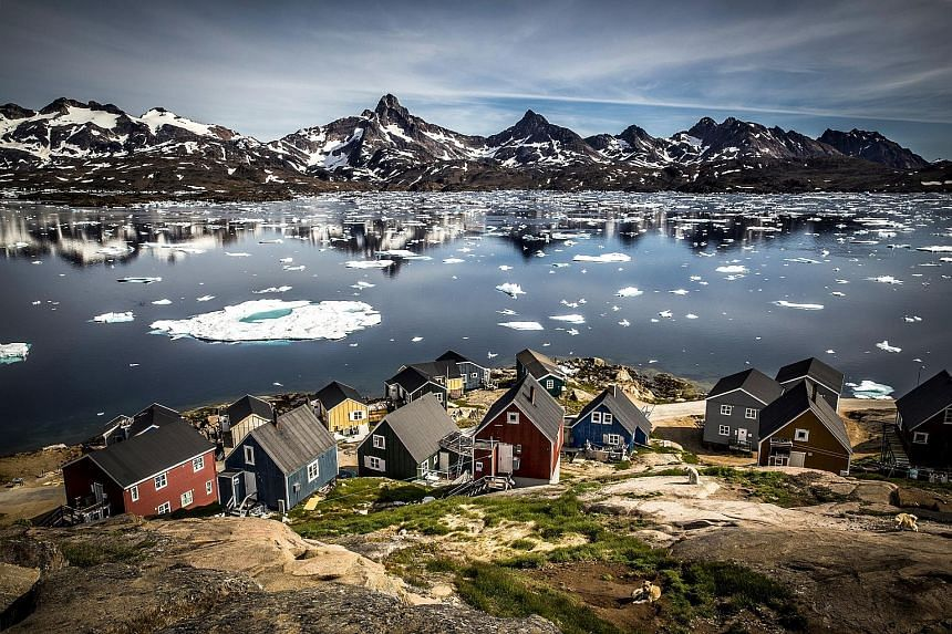 The Inuit communities on the western coast of Greenland. Mining of sand and gravel could boost the economy for Greenland's population of 56,000 who have wide powers of self-rule within Denmark but rely heavily on subsidies from Copenhagen.