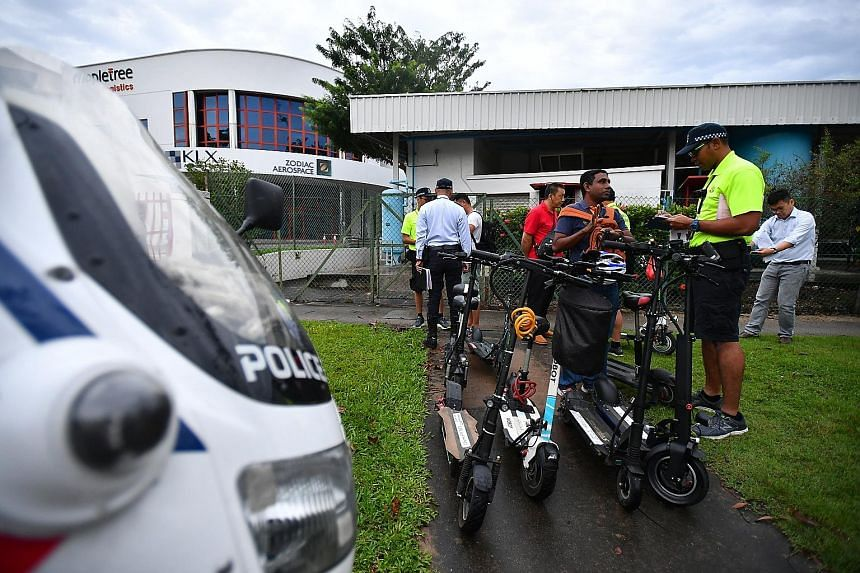 Riding personal mobility devices (PMDs) on the road is an offence, with first-time offenders facing a fine of $300 for riding on minor roads and $500 on major roads. Of the 616 PMD users caught riding on the road last year, 18 per cent - or about 110
