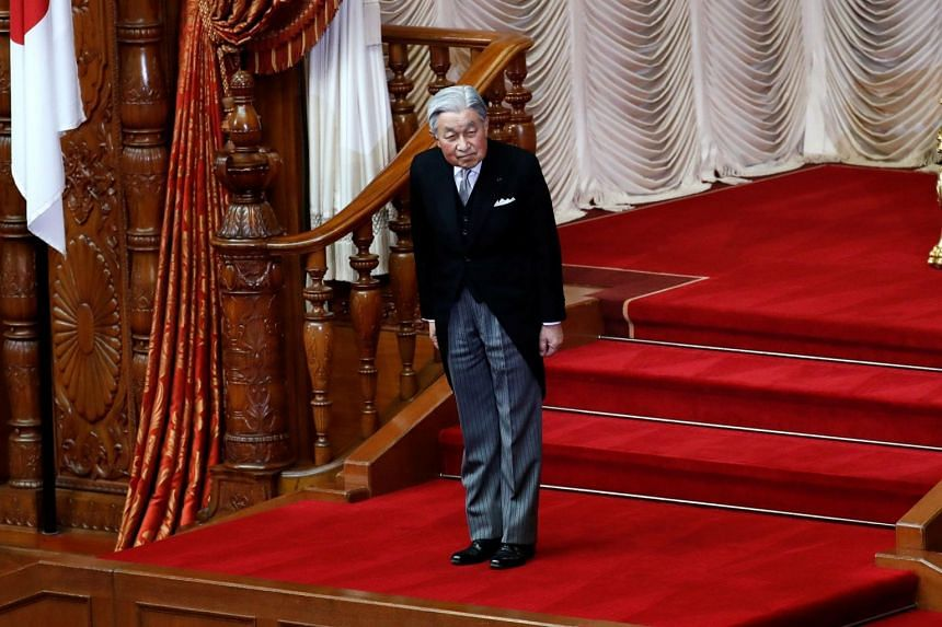 National Assembly Speaker Moon Hee-sang said there was no reason to show contrition for calling on Emperor Akihito (above) to personally apologise to women forced to work in colonial-era Japanese military brothels.