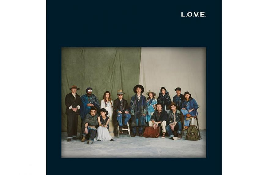 The mood is more upbeat on the mostly Cantonese album L.O.V.E.: a relaxed gathering of musician friends having a blast jamming together.