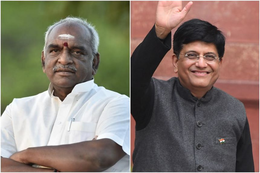 Railway Minister Piyush Goyal (right) shared a digitally altered video, while junior minister for finance and shipping Pon Radhakrishnan inadvertently criticised his own government in multiple tweets.