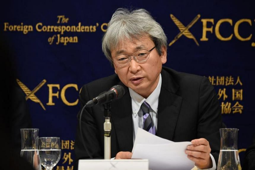 Mr Motonari Otsuru, the chief lawyer for former Nissan chairman Carlos Ghosn, at a press conference at the Foreign Correspondents' Club of Japan on Jan 8, 2019.