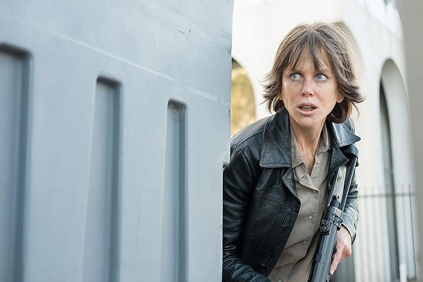 A prosthetics-covered Nicole Kidman plays a tortured detective, settling scores with the men who wronged her, in Destroyer.