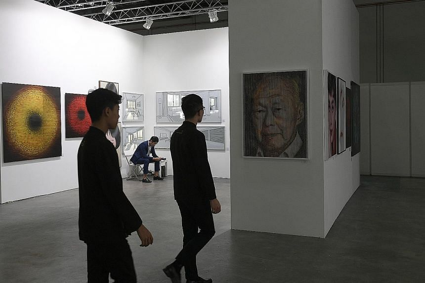 Non-profit group Arts Outreach contacted 36 galleries hit by Art Stage Singapore's cancellation, and 14 took part in the ARTery (above), a pop-up event at Marina Bay Sands Expo and Convention Centre.