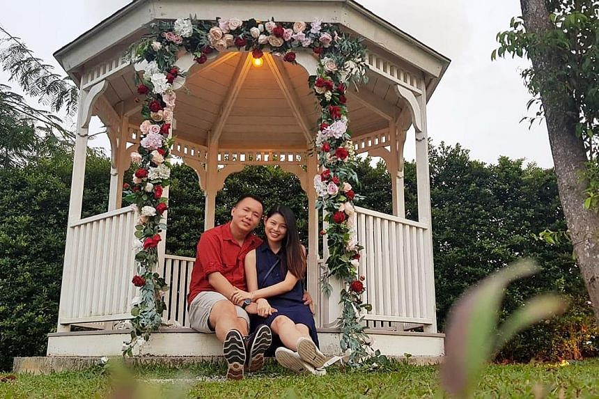 Mr Pang Keng Hao, 29, and his bride-to-be Yap Wei Xuan, 26. The couple have been dating for nine years.