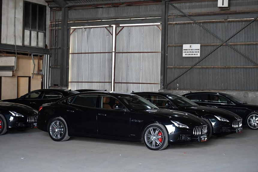 A fleet of Maserati cars at the 2018 Asia-Pacific Economic Cooperation forum in Port Moresby, Papua New Guinea, on Nov 17, 2018.