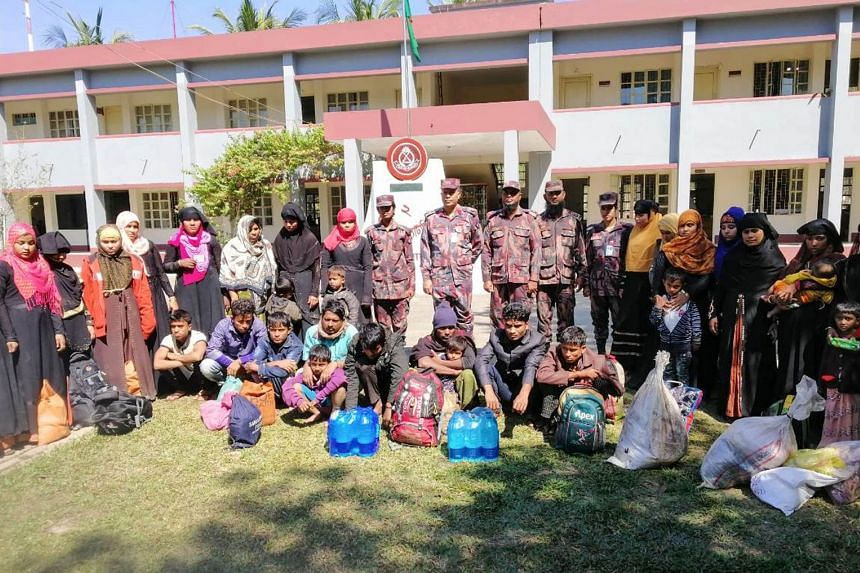 Rescued Rohingya refugees at the Border Guard Bangladesh camp in Teknaf on Feb 8, 2019. About 740,000 of the Muslim minority fled Myanmar for Bangladesh after a military clampdown in the Buddhist-majority nation in August 2017.