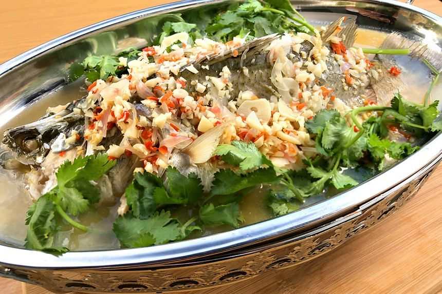 Pla Kapong Neung Manao (Thai-style Steamed Sea Bass With Lime And Chilli Dressing) to get you in the mood for love.