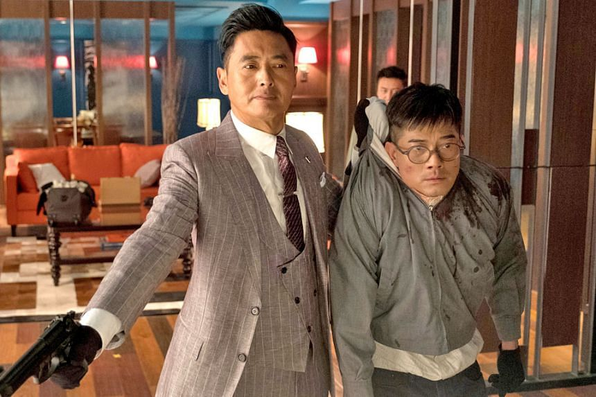 Project Gutenberg stars Chow Yun Fat (far left) and Aaron Kwok, who are both up for the Best Actor award.