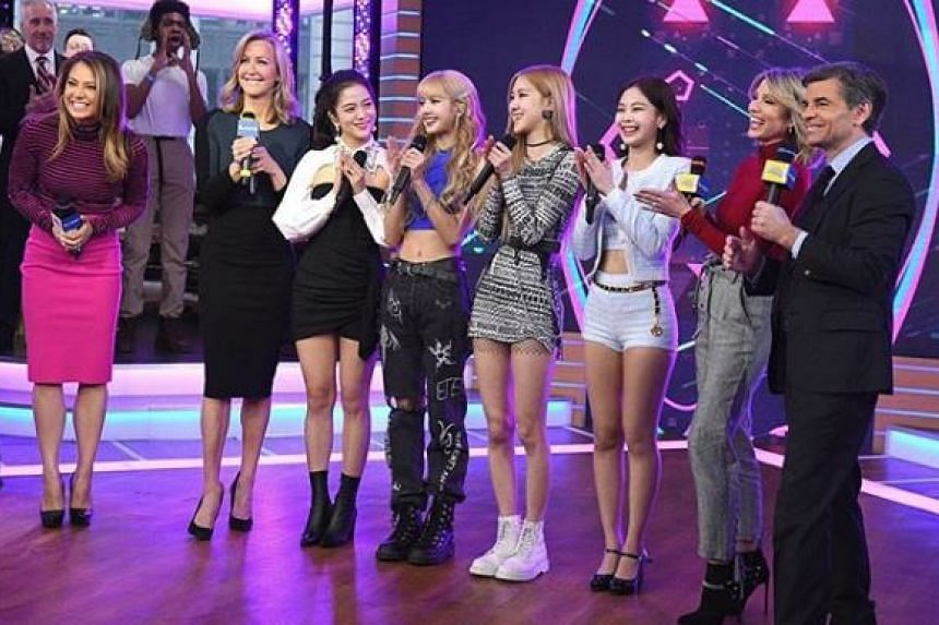 The gaffe occurred when the quartet were performing their hit song Ddu-du Ddu-du on the Good Morning America show on Feb 12, 2019.