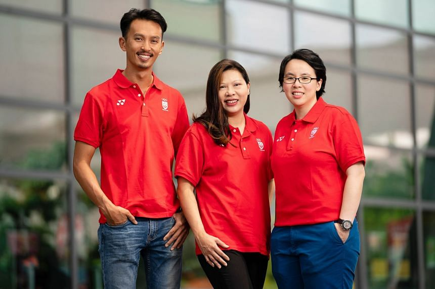 Juliana Seow (centre) will be the chef de mission for the Singapore contingent at the 2019 SEA Games in the Philippines. Chung Pei Ming and Valerie Teo will assist her.