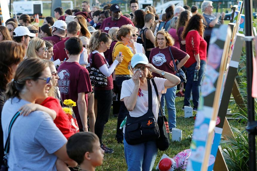Marjory Stoneman Douglas High School, where a former student killed 14 students and three staff members a year ago, cancelled classes for the day and offered counselling services instead.