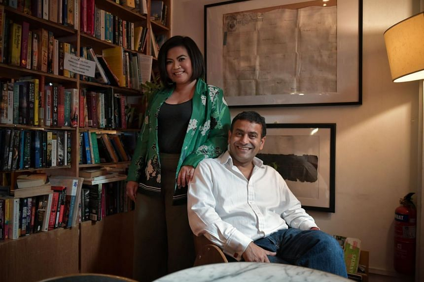 Executive Editor at Penguin Random House South-east Asia, Nora Nazerene Abu Bakar, with Penguin Random House India & South-east Asia chief executive Gaurav Shrinagesh.