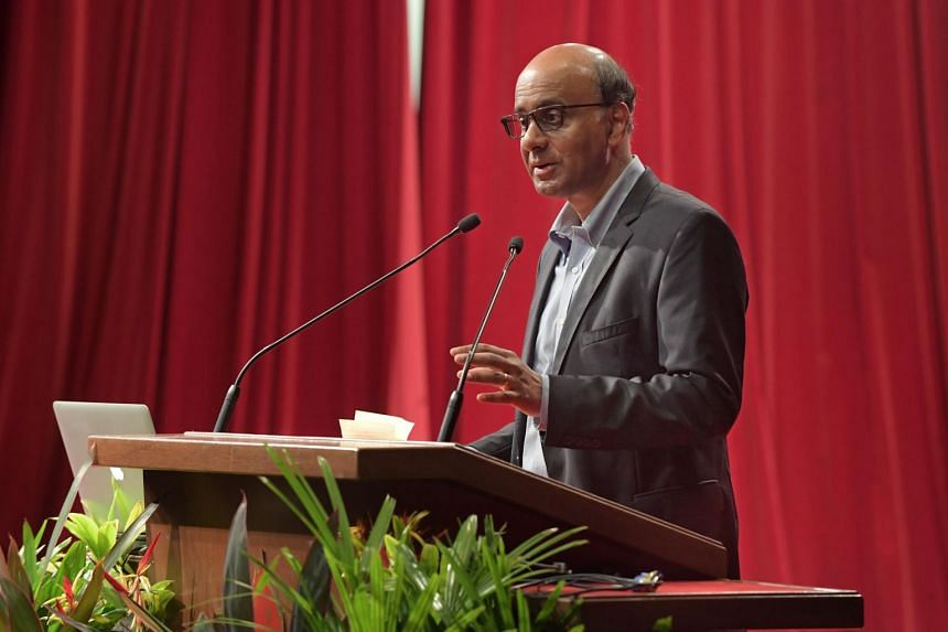"""Citing studies in the United States on the trend of """"helicopter parenting"""", Deputy Prime Minister Tharman Shanmugaratnam said that such behaviour - where parents hover unnecessarily over their children - has long-term psychological side effects on ch"""