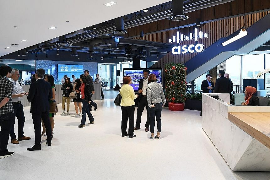 The Cisco Innovation Centre and Cybersecurity Centre of Excellence are located at the American tech giant's office in Mapletree Business City.