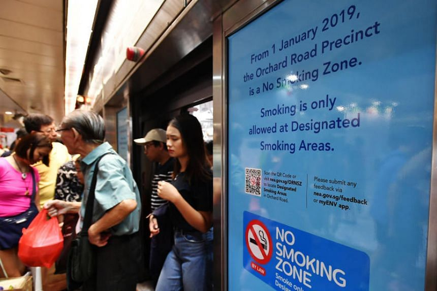 The National Environment Agency noted that smokers are becoming more familiar with the locations of the 50 designated smoking zones in Orchard Road and are getting used to using them.