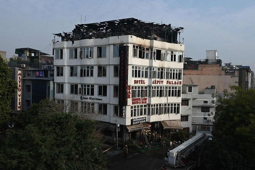 The Hotel Arpit Palace passed a fire safety check in December 2017, but a copy of the initial police investigation showed several breaches of fire regulations.
