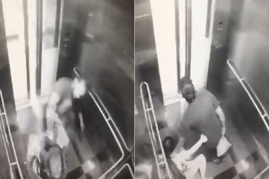 The video of the incident, in which a man repeatedly punches and kicks a woman, has since gone viral.