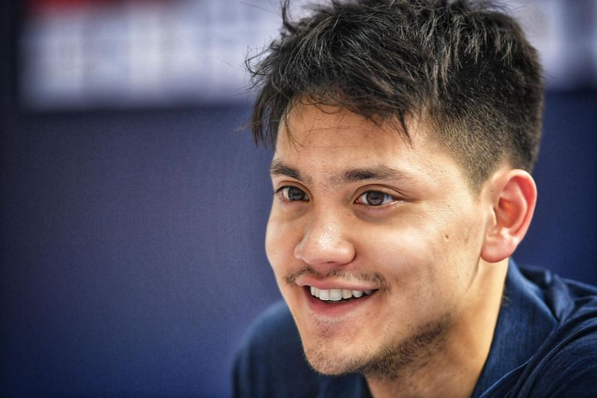 Joseph Schooling during a meet and greet session at Kallang Wave Mall on Nov 14, 2018.