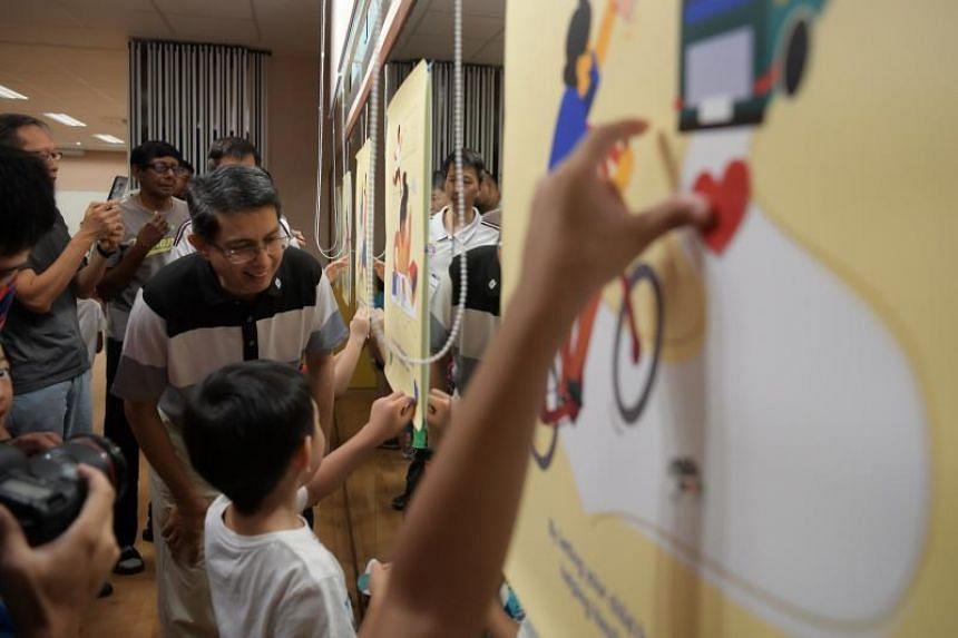 Senior Parliamentary Secretary for Education Muhammad Faishal Ibrahim announced the Guidelines for School-Home Partnership at Yu Neng Primary School on Feb 16, 2019.