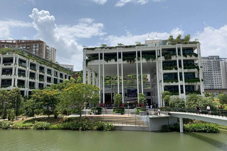 Oasis Terraces is the first of six new-generation neighbourhood centres which are developed with residents' feedback and the HDB as the landlord.