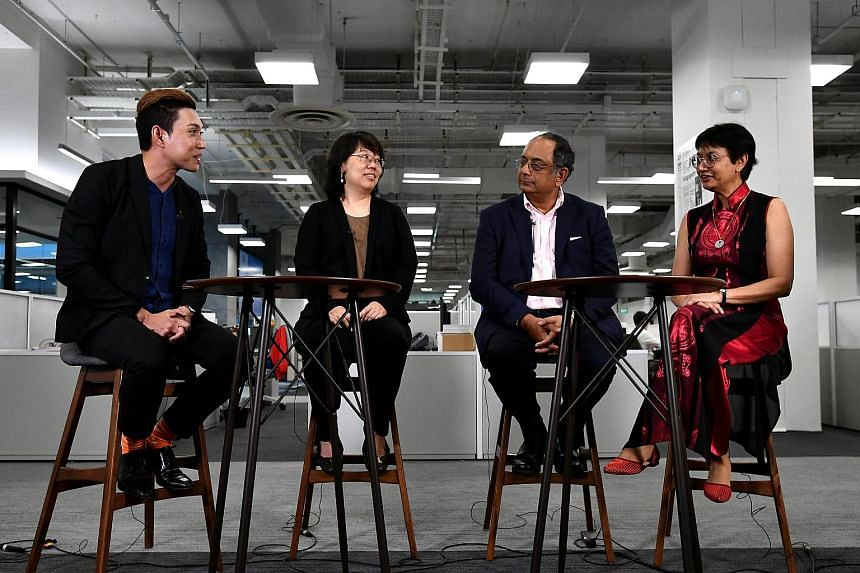 (From left) Multimedia journalist Hairianto Diman will facilitate a live discussion on Facebook on Monday, with ST's opinion editor Chua Mui Hoong, associate editor Ravi Velloor and senior health correspondent Salma Khalik answering questions.