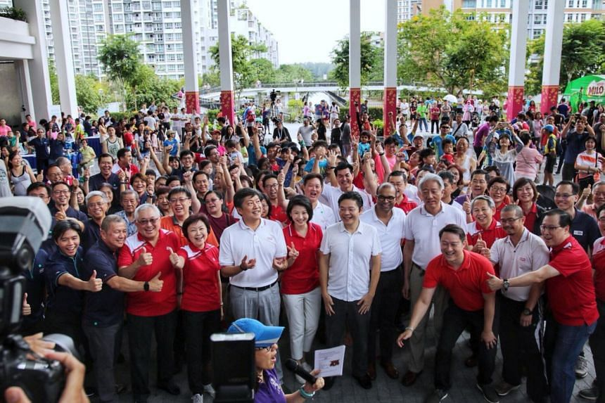 Ministers, MPs and residents at the official opening of the mall at Oasis Terraces, on Feb 17, 2019.