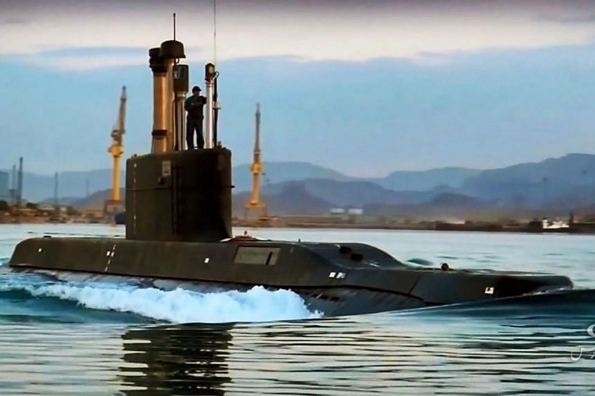 Iranian President Hassan Rouhani inaugurated the new domestically built Fateh-class submarine, on Feb 17, 2019.