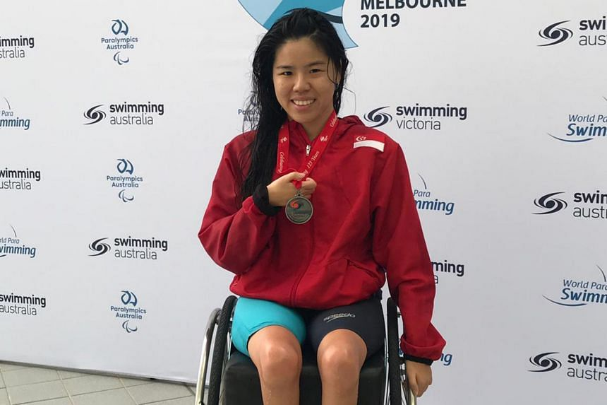 Yip Pin Xiu scored 792 points to claim a silver in the 50m backstroke multi-class event, in Melbourne on Feb 17, 2019.