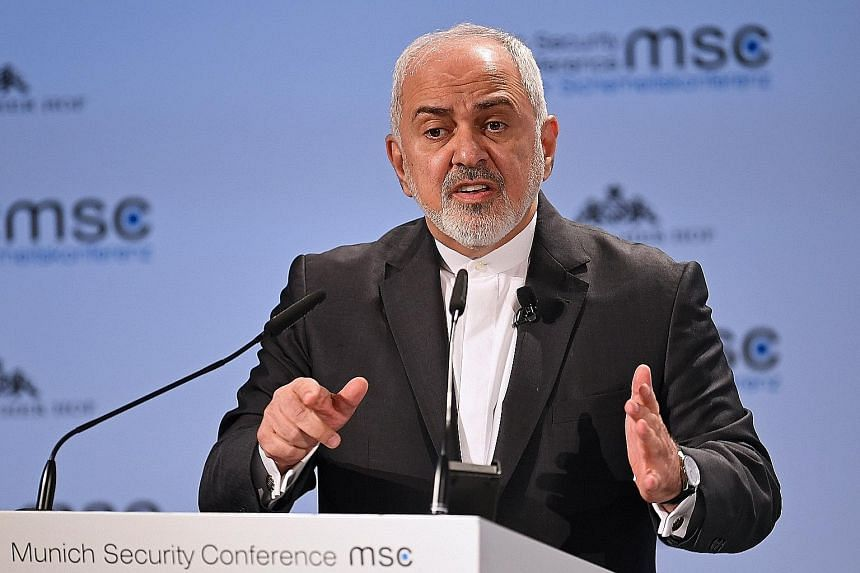 Mr Mohammad Javad Zarif urged France, Germany and Britain to do more to save the nuclear accord.