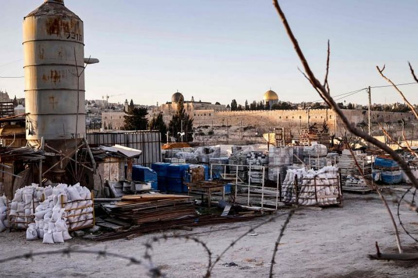 A plot of land partly-owned by the late Palestinian leader Yasser Arafat in east Jerusalem, near the Mount of Olives facing the Old City, on Jan 23, 2019 .